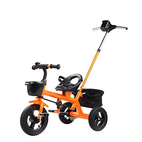 GYF Cumpleaños De Los Niños del Cochecito De Bebé De Bicicletas Bici De Múltiples Funciones De Los Niños Niño Y Niña con Juguete Triciclo (Color : Orange)
