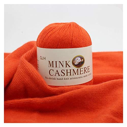 Mejor calidad Mink Wool Hilado de lana Mongolios Hilos suaves de punto a mano Hilado de ganchillo de punto para tejer bufanda bufanda baby knit knit sudor chunky tejer tejido de lana ganchillo