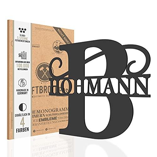Craftbrothers® Custom Monogram - Basic Line - Namensschild Haustür - Türschild personalisiert - Personalisiertes Geschenk |