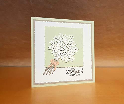 Hochzeitskarte, Glückwunschkarte, Grußkarte, Karte zur Hochzeit, Handarbeit