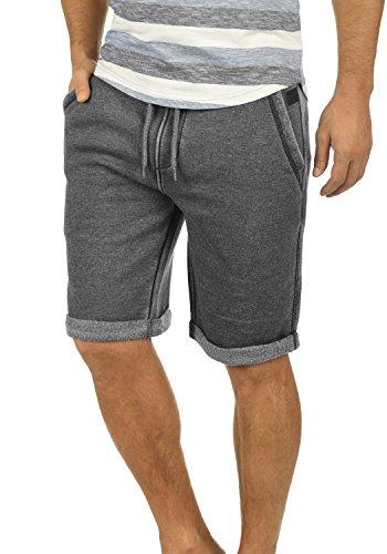 Blend Jonny Herren Sweatshorts Kurze Hose Jogginghose Mit Fleece-Innenseite Und Kordel Regular Fit, Größe:XL, Farbe:Black (70155)