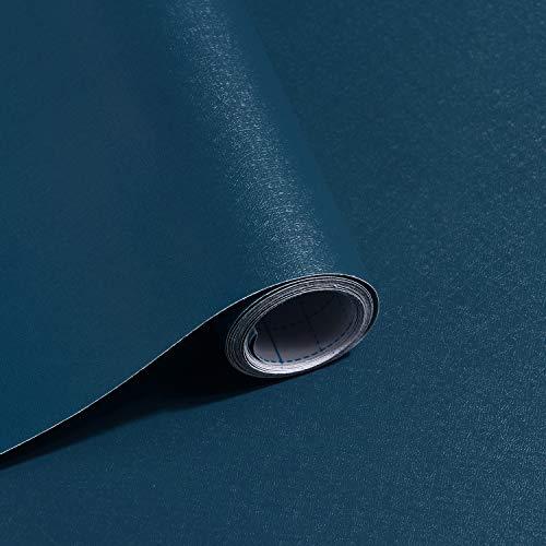 Contact Paper Dark Blue Wallpaper Solid Color Blue Peel and Stick Wallpaper Removable Wallpaper Self Adhesive Contact Paper Decorative Wallpaper Vinyl Rolls for Wall Furniture 78.7'x17.7'