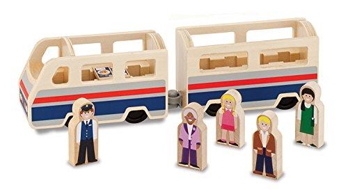 Melissa & Doug - 19393 - Véhicule Miniature - Modèle Simple - Train De Passagers