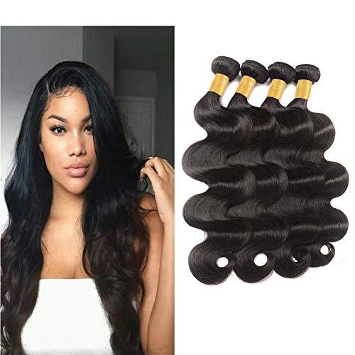 Shimei Hair Body Wave Human Hair Bundles Brazilian Virgin Body Wave Human Hair Bundles Weave Hair Human Bundles Curly Bundles (BD14 16 18 20, natural color)