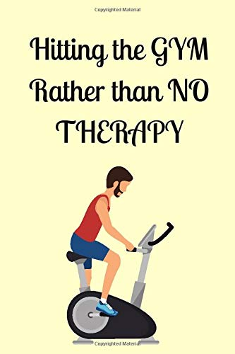 Hitting The Gym: Physical Therapy Tool for Physical Therapists Perfect as Present for Therapists Lined Notebook 120 Pages