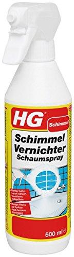 HG Schimmel Vernichter Schaumspray 500 ml – das wirksamste Anti-Schimmelspray zur Verwendung im und um das Haus