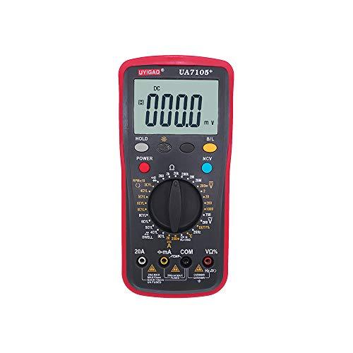 XIANGHUi Multímetro Digital Manual Alta precisión Mini medidor Universal 5999 Cuentas Cuenta con Pantalla LCD Verdadero Medida Voltaje de CA/CC Resistencia de Corriente Capacitancia