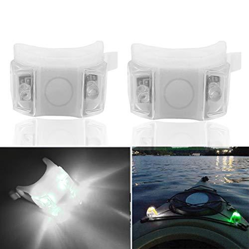 Botepon 2Pcs Boat Kayak Battery Navigation Lights Safety Lights Boat Bow Lights Stern Lights Bike Lights Pet Lights Night Running Lights with 3 Modes