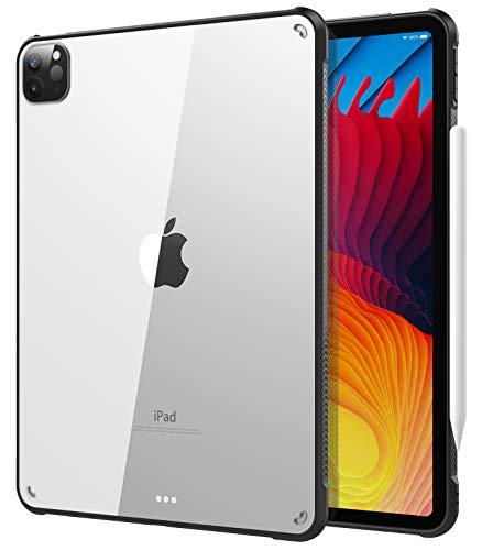 TiMOVO Funda para New iPad Pro 11 Inch 2021 (3rd Gen), Cubierta Suave con Soporte de Cargar para 2nd Gen Apple Pencil, TPU Flexible con Borde de Almohada de Aire - Negro