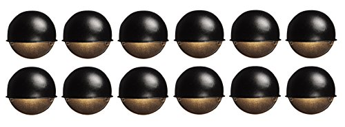 12 Pack Malibu 8301-9400-12 Surface Deck Step Path Lights, Round, Cast Metal, 7 Watt, Black Finish BY MALIBU DISTRIBUTION