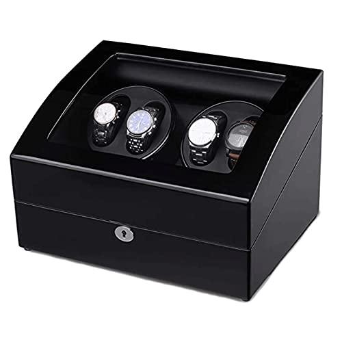 ANTLSZH 4 Watch Winder Reloj Automático Winder Caja De Almacenamiento De Madera Hecho A Mano
