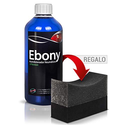 Sisbrill Ebony Acondicionador y Protector de Neumáticos - Negro Duradero - Brillo Satinado y Acabado Seco - No se va con la Lluvia - 500ml