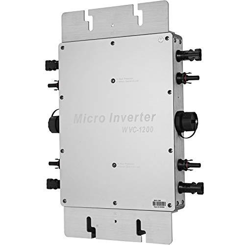 Mophorn 1200W MPPT Inversor Solar a Prueba de Agua Micro Inversor de Corriente Durable del Inversor de Potencia