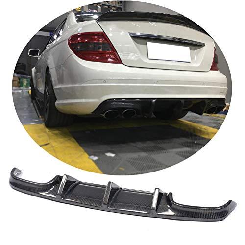 Jun-star Carbon Fiber Rear Bumper lip Diffuser fits for Mercedes Benz C Class W204 C63 AMG Sedan 2008-2011 Lower Chin Spoiler Splitter Bodykit