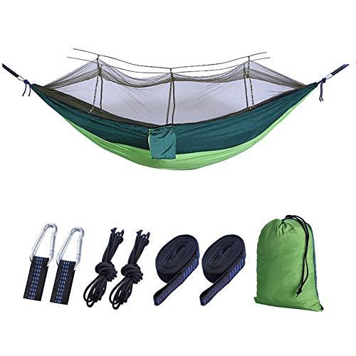 GHabby Hamac de Camping de Jardin 260 x 140 cm, hamac Portable - Idéal pour Les Voyages, Camping, randonnée, Jardin, Charge maximale 150 kg