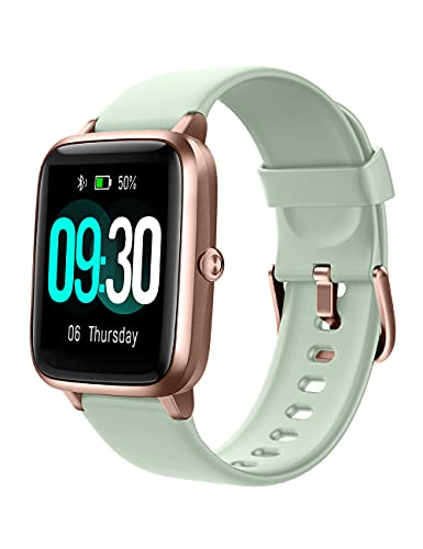 Willful Smart Watch for Android Phones and iOS Phones Compatible iPhone Samsung, IP68 Swimming Waterproof Smartwatch Fitness Tracker Watch Heart Rate Monitor Smart Watches for Men Women Mint Green-GD