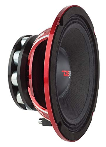 "DS18 PRO-NEO8R Loudspeaker - 8"", Midrange, Red Aluminum Basket, 800W Max, 400W RMS, 4 Ohms, Neodymium Rings Magnet - The Most Elegant Neodymium Full Range Loudspeakers Available"