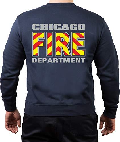 Chicago FIRE Dept Sweat-shirt à capuche Rouge/jaune/bleu marine - Bleu - Small