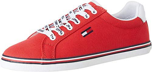 Tommy Hilfiger Damen Essential LACE UP Sneaker, Rot (Deep Crimson Xnl), 37 EU