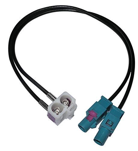 AERZETIX: Connecteur Adaptateur fiche Prise antenne FAKRA MFD2 RCD300 RNS-510 RNS2 pour Auto Voiture
