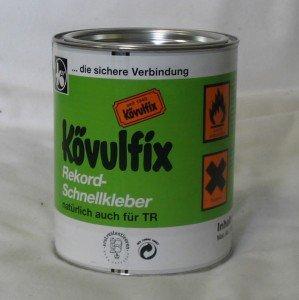 STOFFKONTOR 600 gr Dose Kövulfix Universalkleber Textilkleber für Leder Stoff UVM. ((Grundpreis 1kg= 34,80€)