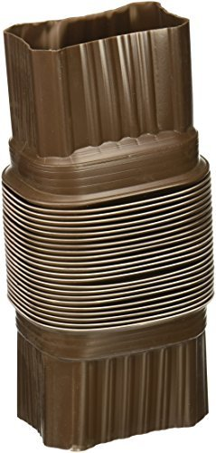 AMERIMAX HOME PRODUCTS 3708419 2x3 Flex Elbow, Brown by Amerimax Home Products