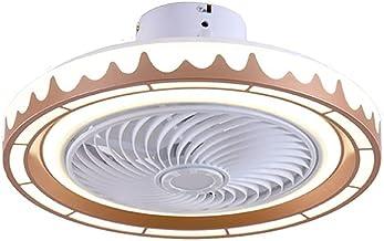 BBZZ Slimme en lage geluidssterkte onzichtbare plafondventilatorverlichting, LED-woonkamerverlichting, restaurant ventilat...