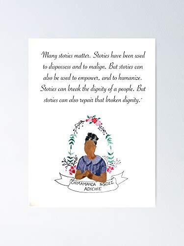 "AZSTEEL - Poster ""Chimamanda Ngozi Adichie"""
