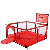 Yxsd Cerca del Parque Infantil para Bebés con Aro De Baloncesto, Centro De Actividades para Bebés Grandes Área De Juegos De Seguridad Puerta para El Rastreo De Bebés (Color : Red)