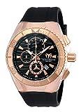 Technomarine Men's Cruise Star Stainless Steel Quartz Watch with Silicone Strap, Black, 29 (Model: TM-115048)