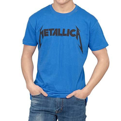 Official Metallica Logo Blue T-Shirt, M to 3XL for Men