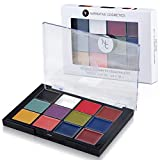 Narrative Cosmetics 12 Color Primary FX Quick Drying Cream Makeup Palette for Special Effects - Waterproof SFX Makeup for Professional Makeup Artists