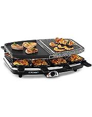 Cloer Raclett-Grill met natuursteen, 1200 W, 8 grillpannetjes