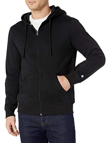 Starter Men's Zip-Up Hoodie, Amazon Exclusive, Black, Large