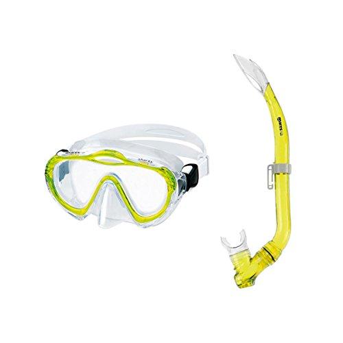 Kinderschnorchelset Mares Sharky Schnorchelset für Kinder von 4-7 Jahre Tauchbrille und Schnorchel mit Ausblasventil