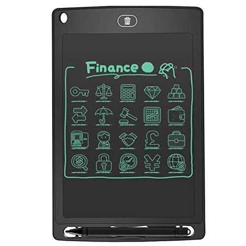 Jinxuny LCD-bureaublad 12 inch (ABS-beeldscherm, digitaal, ultradun, draagbaar schrijf- en tekenplank, papierloze handschrift, lichtgewicht tablet voor kinderen, thuis, schoolkantoor (zwart) 8.5inch zwart