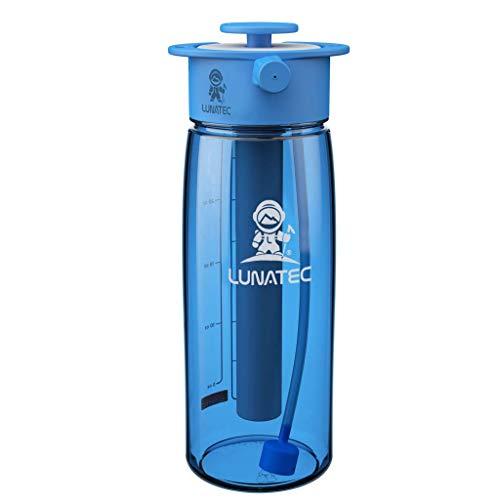 Lunatec Die Wasserflasche ist eine Drucksprühflasche und eine Wasserflasche in einer einfach zu bedienenden BPA-freien Flasche.