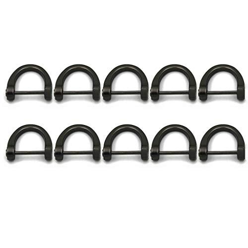 Yunnan BAOKAJIXIRY - 10 piezas en forma de D con hebilla en forma de U, accesorios de repuesto para manualidades para mujer
