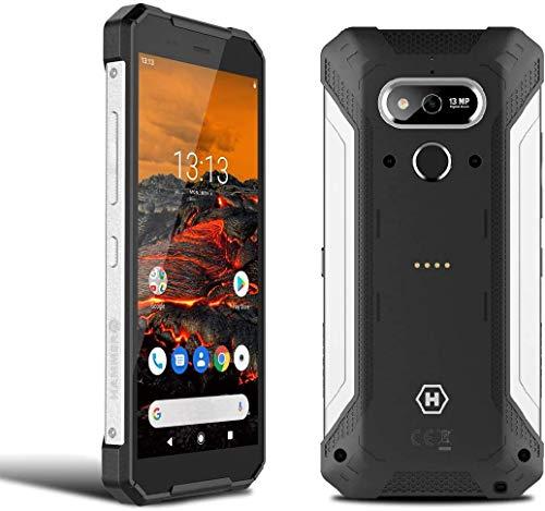"""Hammer Explorer 5.7""""HD + teléfono Inteligente estándar Militar, Mega batería de 5000 mAh con Carga rápida, NFC, Impermeable/a Prueba de Golpes, LTE 4G, IP69, Dual SIM - Plata"""