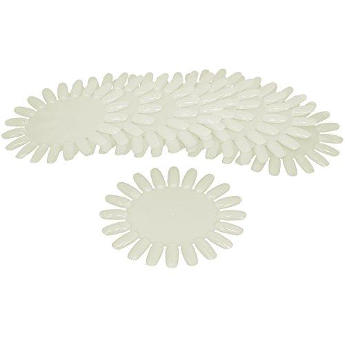 com-four® 10x Nagellack Präsentationsdisplay, Weiß, Perfekte Präsentation für Nailart, Nagellack, Airbrush, One-Stroke, UV-Gel (10 Stück - weiß)