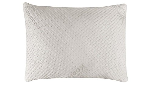 Snuggle-Pedic Ultra-Luxury Bamboo Shredded Memory Foam Pillow Combination...