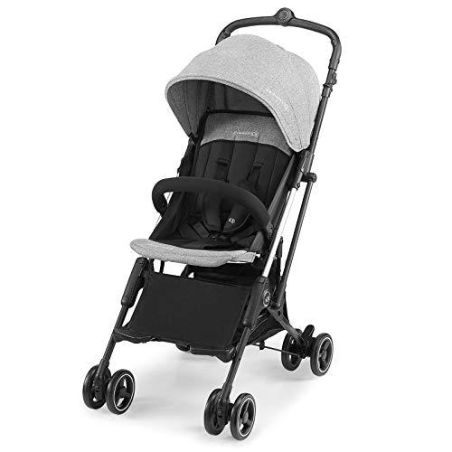 Kinderkraft Kinderwagen MINI DOT, Liegebuggy, Sportwagen, Ultraleicht 5,6 kg, Aluminium, Schnelles Zusammenklappen, Pocket, Einfacher Transport, Zubehör für Kinder von Geburt bis 15 kg, Grau
