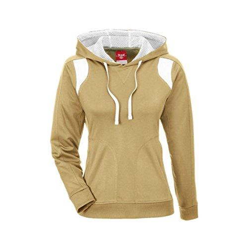 Ash City Apparel Team 365 Ladies Elite Performance Hoodie (Medium, Sport Vegas Gold/White)
