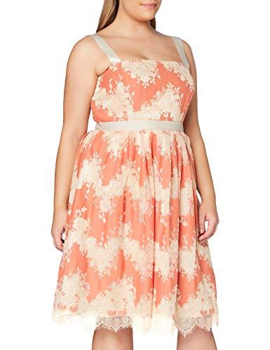 Gina Bacconi Damen Women's Raina Lace Dress Cocktailkleid, Orange, 44