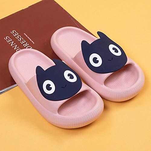 ypyrhh Sandalias Cómodo Casual Zapatos de Playa,Interior de Dibujos Animados dragón Rojo, Dormitorio Pareja Zapatillas-Pink_37-38,Zapatillas Flip Flops Sandal