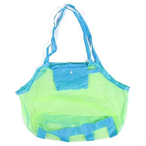 Bolsa de Playa de Malla, Bolsa de Mano de Malla Cargas de Alta Resistencia para Nadar en la Playa o pasear en Bote para Llevar Toallas Botellas de Agua Gafas, Juguetes, Protector Solar,