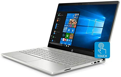 "2019 HP Pavilion Flagship 15.6"" Full HD IPS Touchscreen Laptop, Intel Quad Core i7-8550U, 12GB DDR4 Memory, 256GB SSD Boot + 1TB HDD, USB-C, Bluetooth, WiFi, Backlit Keyboard, Windows 10, Silver"
