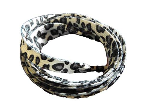 fat-catz-copy-catz 1 Paar, flach, Leoparden-print, sneaker, Turnschuh, trainer, Schuh, Schuhe, fashion Schnürsenkel, 115 cm lang, in 6 Farben