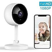 Überwachungskamera, Littlelf 1080P HD WLAN IP Kamera WiFi Kamera mit mit Nachtsicht Baby Monitor, 2-Wege-Audio, Bewegungserkennung, Funktioniert mit Alexa, Cloud Service