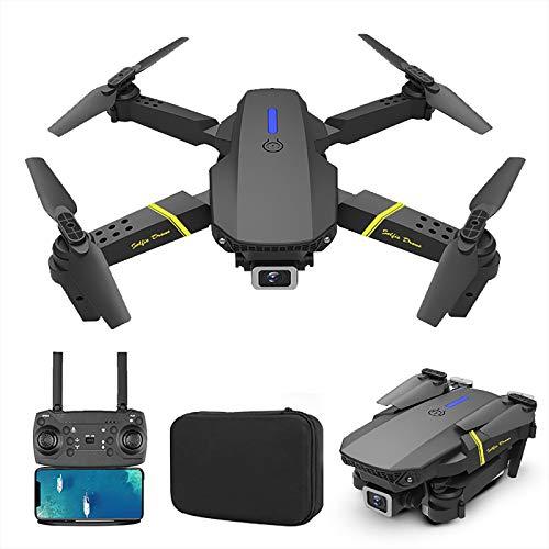 FPV-Drohne mit HD-Kamera WiFi FPV RC UAV, faltbare Ein-Schlüssel-Start- / Landedrohne, Echtzeit-Luftbildfotografie, Rückgabe der GPS-Satellitenpositionierung, Windschutzsysteme (B:4K HD Single Camera)